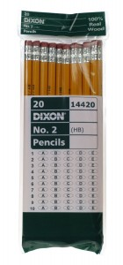 Dixon Yellow Pencils Wood-Cased Black Core 20-Count