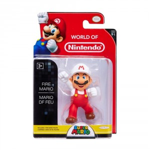 World of Nintendo 3 inch Fire Mario Figure
