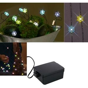 Novlety Flower Design Led Ultra Thin Wire Light Strands - Set Of 2