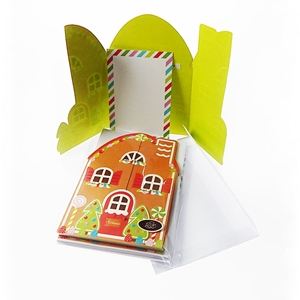 Christmas Gingerbread House 10Ct Die Cut Invitations