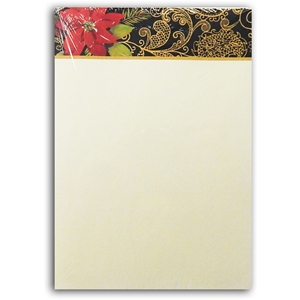 Notepad Bloc Notes Christmas 60 Sheets Poinsettia