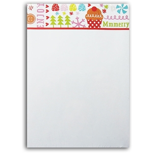 Notepad Bloc Notes Christmas 60 Sheets Cupcake Gingerbread
