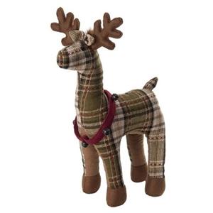 """Green Plaid 15"""" October Hill Reindeer"""