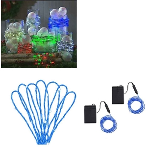 Blue Decorative Light Strand Set Of 2 15 Ft