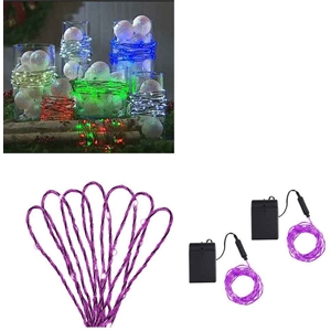 Purple Decorative Light Strand Set Of 2 15 Ft