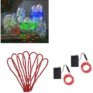 Red Decorative Light Strand Set Of 2 15 Ft