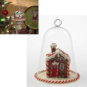 Gingerbread House Bell Jar Led Lights