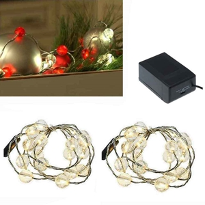 Jewel Bead Light Strands Clear Set Of 2