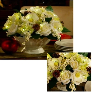 Ceramic Bowl Holiday Floral Arrangement