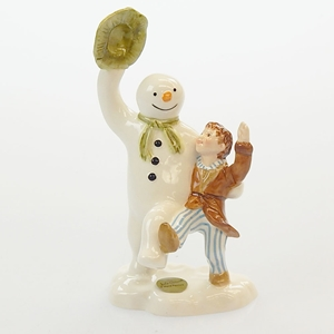 Snowman And James Dancing By John Beswick