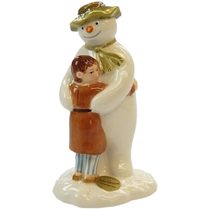 Snowman And James Hugging Figuring By John Beswick