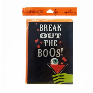 10Ct Halloween Invitations Break Out The Boos!