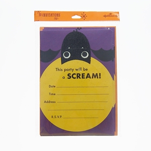 10Ct Invitations Halloween This Party Will Be A Scream!