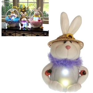 Springtime Bunny With Timer Color Changing Led Lights