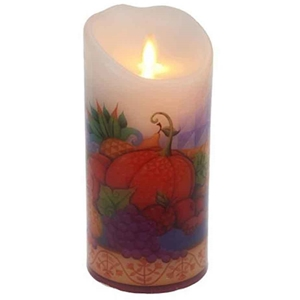 Jim Shore Harvest Luminara Flicker Flame Candle