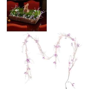Purple Beaded Jewel Flower Garland Led Lights