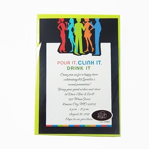 Cocktail Party 10Ct Invitation Cards