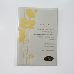 Yellow Poppies 10Ct Invitations With Envelopes