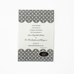 Black Pattern Magnetic 8-Invitations With Envelopes