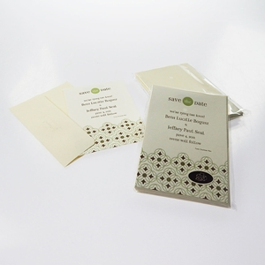 Geo Save The Party Date Magnetic 8-Invitations