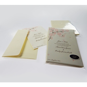 Cherry Blossom 8Ct Save The Date Party Cards, Magnets, Envelopes