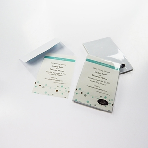 Bubbles Save The Party Date Magnetic 8 Invitations