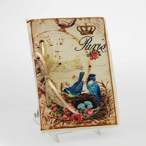 Journal Book - French Blue Bird Nest