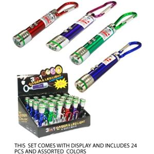 Laser Key Chains (24 Piece)