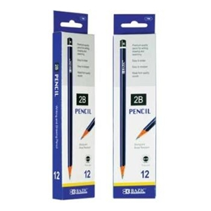 Bazic #2B Premium Wood Pencil - 12/Pack