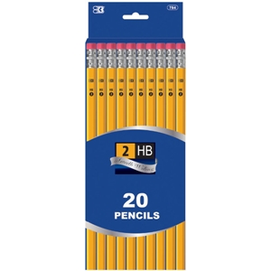 #2 Yellow Pencil - 20/Pack