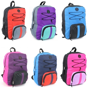 "16"" Multi Color Backpack - 6 Colors"