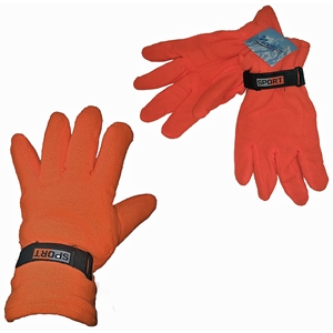 Men'S Safety Orange Fleece Gloves