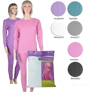 Women'S Thermal Underwear Sets - Purple