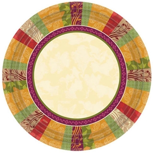 Fall Expressions Round Paper Plates- 10.25''