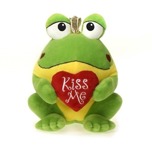 """10"""" Promo Frog With """"Kiss Me"""" Heart"""