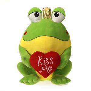 """25"""" Promo Frog With """"Kiss Me"""" Heart"""