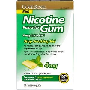 Good Sense Mint Nicotine Gum 4 Mg