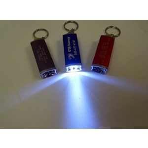 Square Style 3 Light Keychain Flashlight
