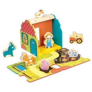 Stow and Play Wooden Farm House