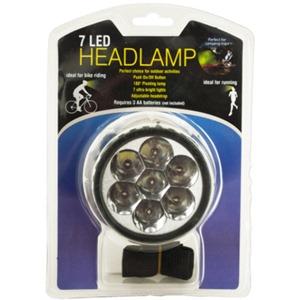7 Led Pivoting Headlamp With Adjustable Strap