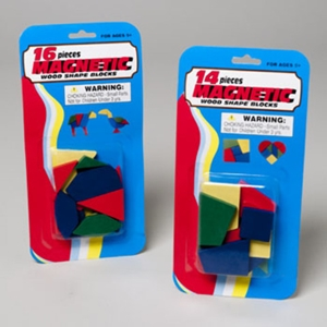 Magnetic Wood Shape Blocks
