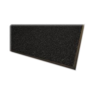 Genuine Joe Indoor Mat, Vinyl Backing, 4'X6', Charcoal