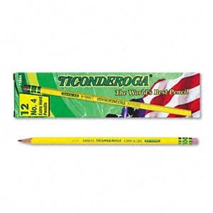 Ticonderoga Woodcase Pencil 2H #4 Yellow Barrel