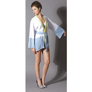 Women'S Kimono Robe: Dove Blue-Medium