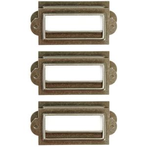 """Treasures Metal Bookplates 2.125""""X.875"""" 6/Pkg-Antique Silver"""