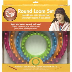 Boye Round Loom Set - 7 Pieces