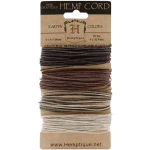 Hemp Cord 20# 30 Feet/Pkg-Earthy