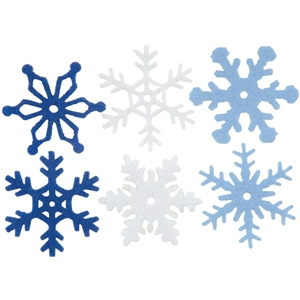 "Medium Felt Winter Snowflakes - 1"" X 1"""