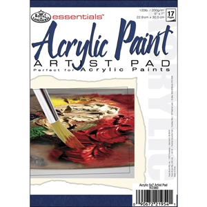 "Essentials Acrylic Paint Paper Pads 17 Sheets - 5"" X 7"""
