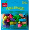 30Ct. Pencil Cap Erasers